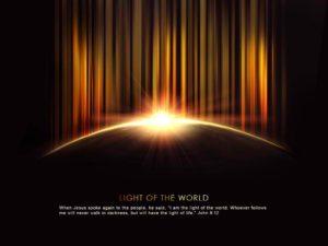 Light of the World Bible Verse Christian Wallpaper