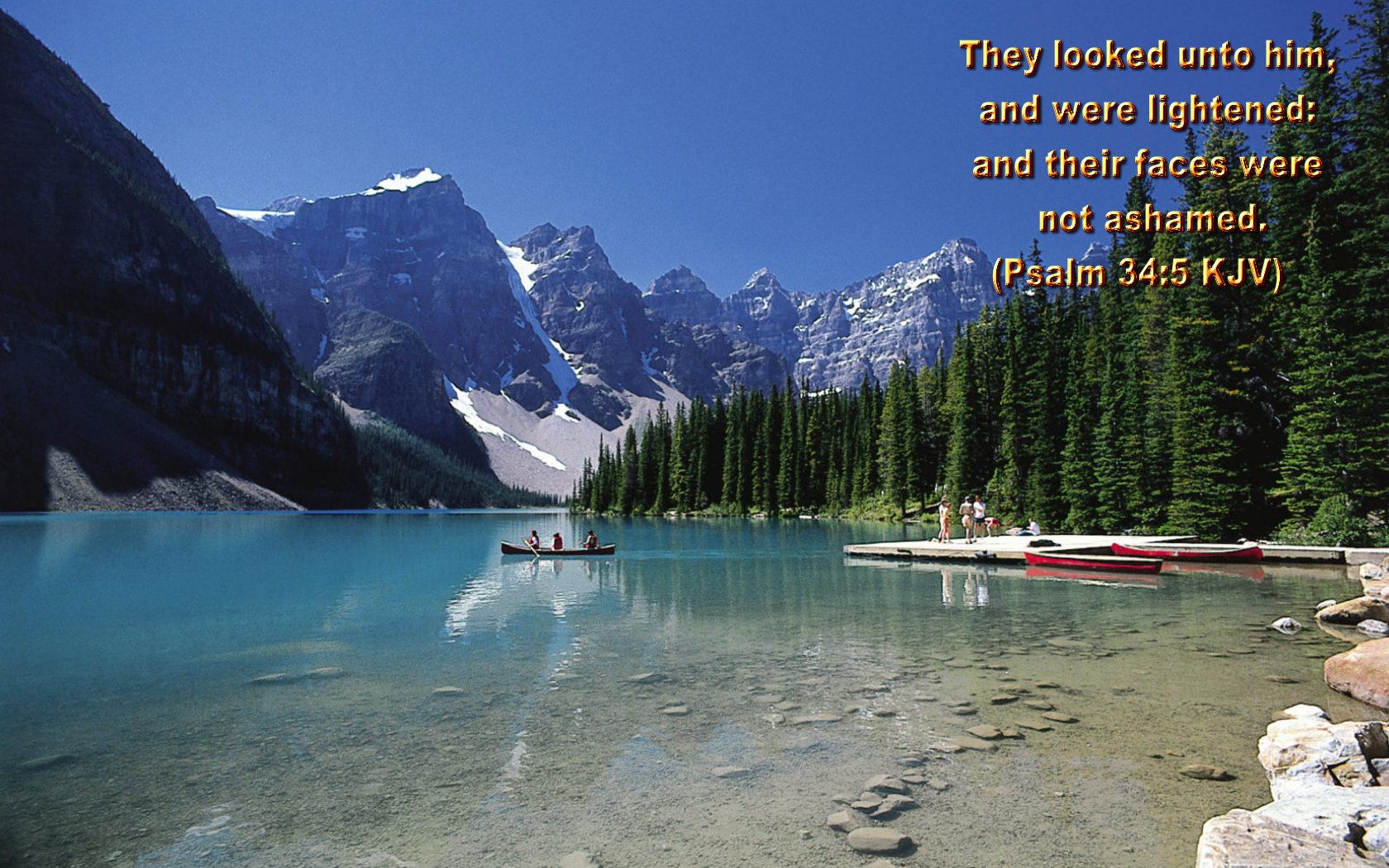 Psalm 34:5 Bible Verse Christian Wallpaper