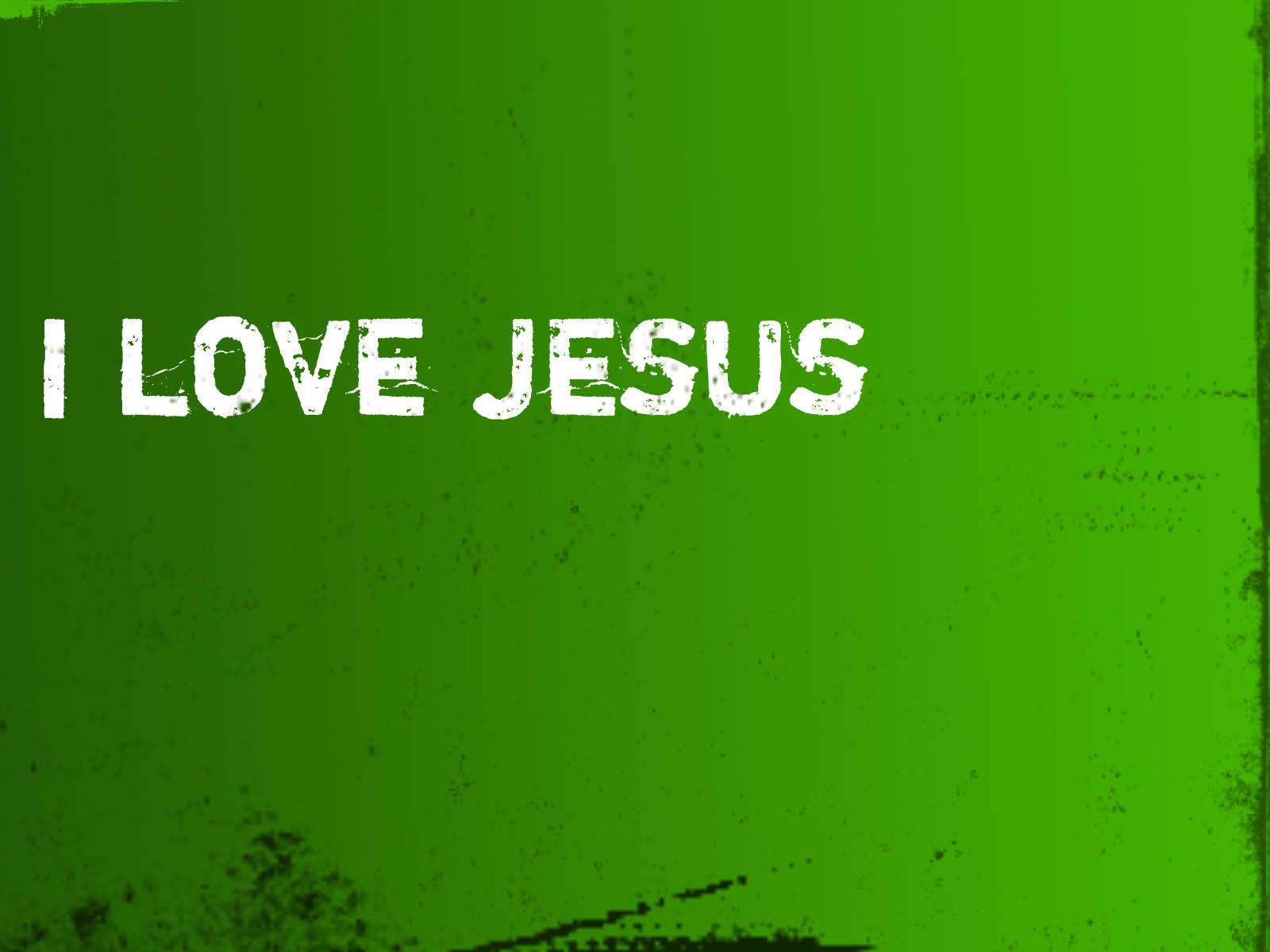 I Love Jesus Christian Wallpaper